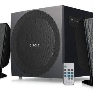Circle CT 2.1 360RC Speaker and Amplifier with Remote (Black) by CIRCLE