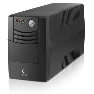 Circle 1kva ups with battery microprocessor control power backup and protection